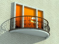 3d 3ds balcony balcon