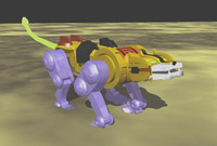 yellow lion 3d lwo