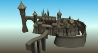 3d castle houses market