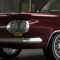 3d chevy corvair 1964 model