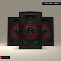 professional speaker 3d model