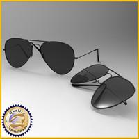 sun aviator 3d model