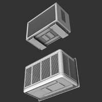 air conditioner 3d obj