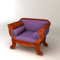 3d model classic armchair