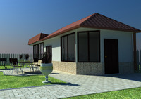 backyard house 3d max