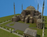 hagia sophia castle - 3ds