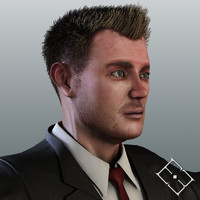 3d model resolution business male carl