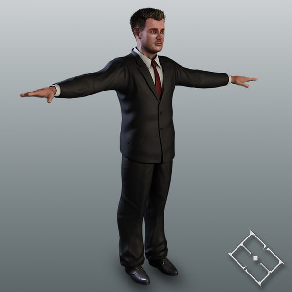 3d model resolution business male carl - Business Man Carl(1)... by hobstob