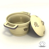 soup pot ceramics 3d model