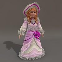 3d model of doll