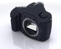camera body slr 3d max