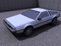 delorean dmc 12 3d c4d