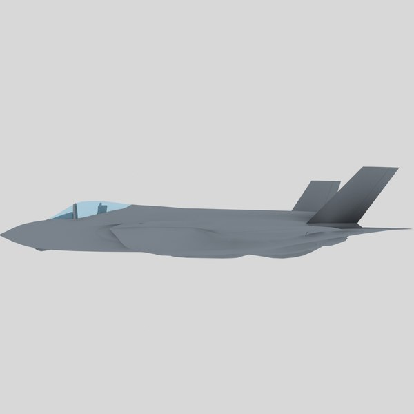 3d model games f-35 - F-35A Lightning II USAF stealth fighter game model... by Petr005
