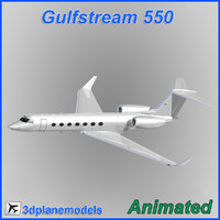 Gulfstream G550 Generic white