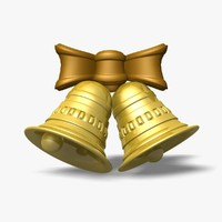 3d model golden bells