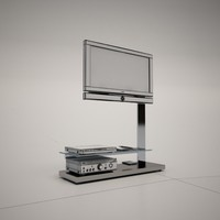 cattelan italia hollywood tv stand 3d model