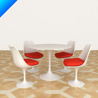 Knoll Saarinen Tulip Dining Table and Conference Chair