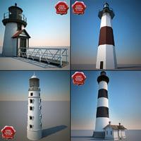 3d lighthouses modelled