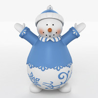 3ds max snow man snowman