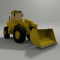 3d model end loader