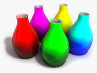 3d design glass vase model