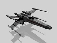 x-wing star starfighter 3d model
