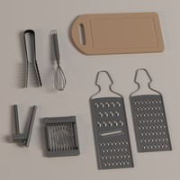 3dsmax kitchen graters board