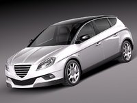 3d model chrysler delta 2012 lancia