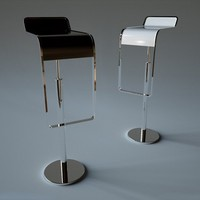 3d model lem piston bar stool