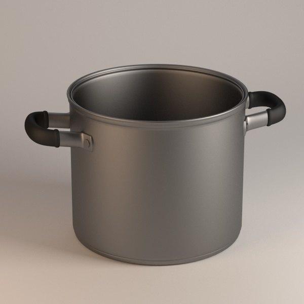 cooking pot 3d 3ds