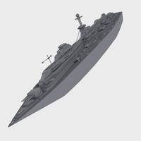 carrier battleship ship 3d obj