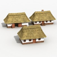 3d village houses model