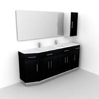 3dsmax bathroom furnishing wood