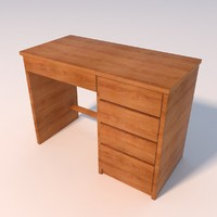 3ds max small wooden desk
