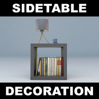 sidetable table 3d model