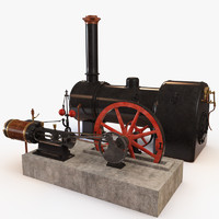Steam engine and boiler