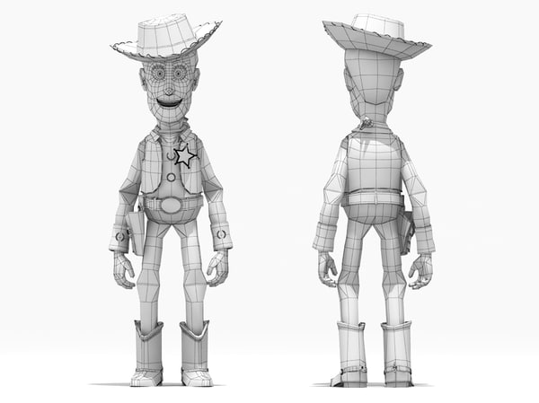 3d model buzz lightyear woody rigged characters - Buzz & Woody rigged... by fabelar