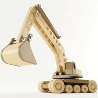 3d toy excavator