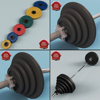 3d barbell modelled weight model