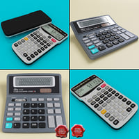 calculators set add 3d max