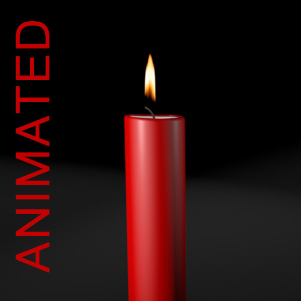 Animated candle flame