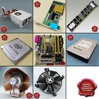 computer components v4 3d model
