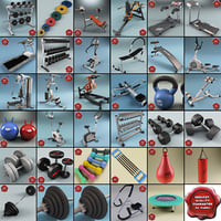 Gym Equipment Collection V7