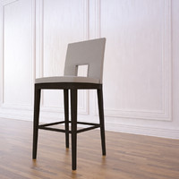 3d velin bar stool model