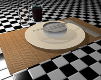 cinema4d asian table set