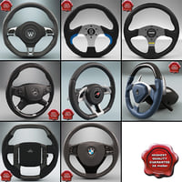 steering wheels 3d model