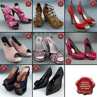 women shoe v6 3d model