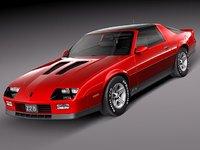 3d model chevrolet camaro z28 1990