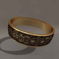 c4d gold wedding ring