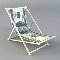 3d low-poly dollar chair model